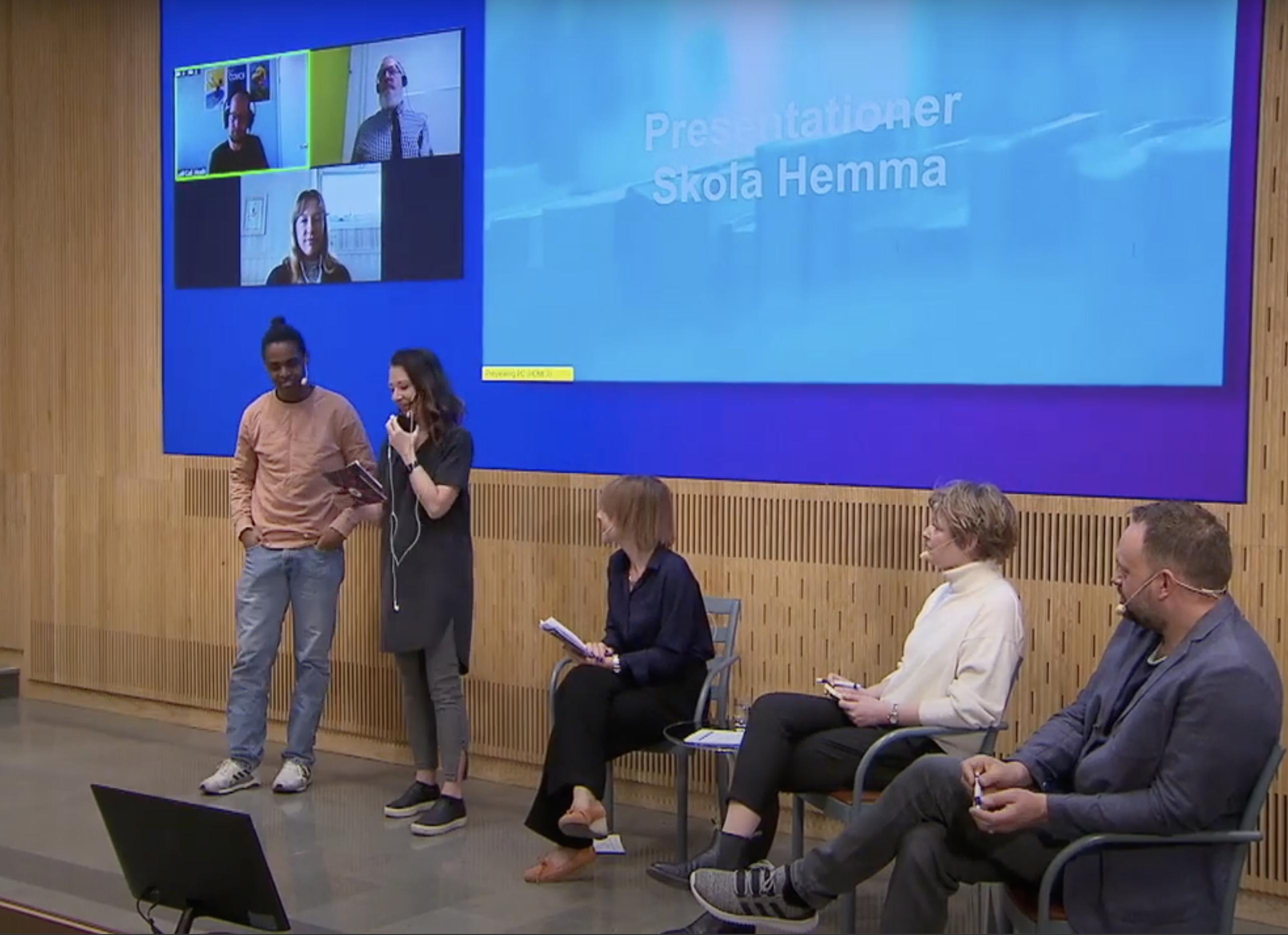 Skola Hemma konferens elever